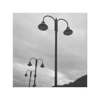 Retro Laternenpfähle schwarz u. weißes 4Mauree Gespannte Galerie Drucke