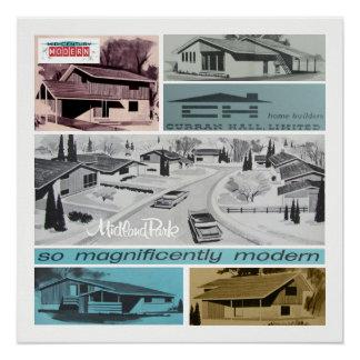 Retro-licious 60er modernes Mosaik! Poster