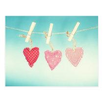 Retro Liebe Postkarte