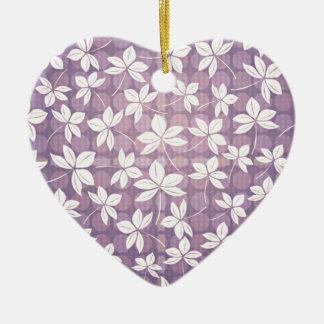 Retro lila Paradies Keramik Herz-Ornament