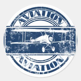 Retro Luftfahrt-Kunst Stickers