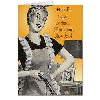 Retro lustige Rateglückwunsch-neue JOB-Karte Mitteilungskarte