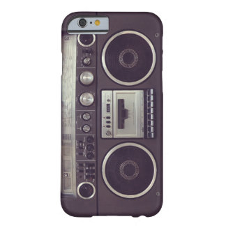 Retro lustiger Fall des Boombox Kassettenrecorders Barely There iPhone 6 Hülle