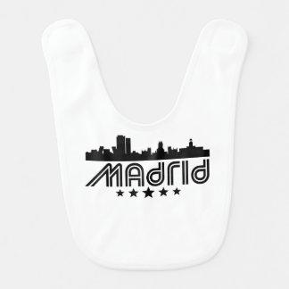 Retro Madrid-Skyline Lätzchen
