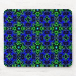 Retro Margeriten u. Sterne Artdeco in grün blau Mousepad