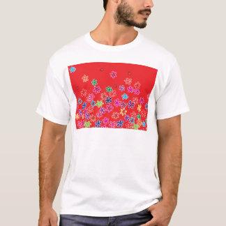 Retro Marienkäfer u. Blumen T-Shirt