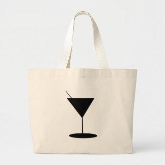 Retro Martini-Glas Jumbo Stoffbeutel