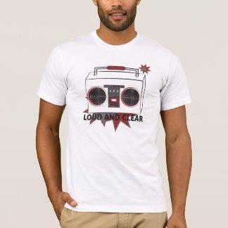 Retro Maschinen laut und klarer Boom-Kasten-T - T-Shirt