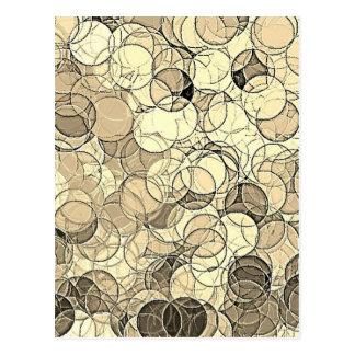 Retro mehrfarbiges Kreis-Muster Postkarte