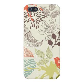 Retro mit Blumenmuster iPhone 5 Case