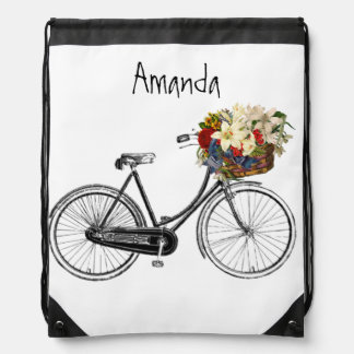 Cyclist adventure Ladies floral retro personalized