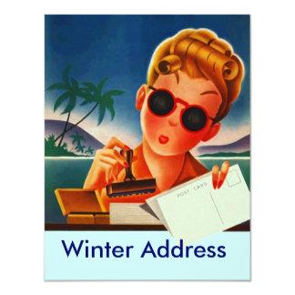 Retro Mitteilungs-Reise-Mitteilungs-Adresse 10,8 X 14 Cm Einladungskarte