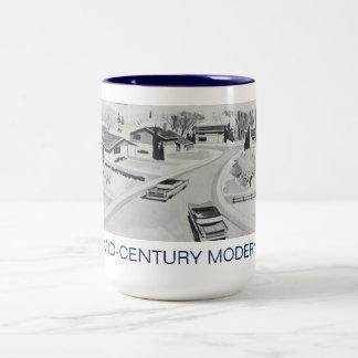 Retro moderne Architektur-Tasse Zweifarbige Tasse