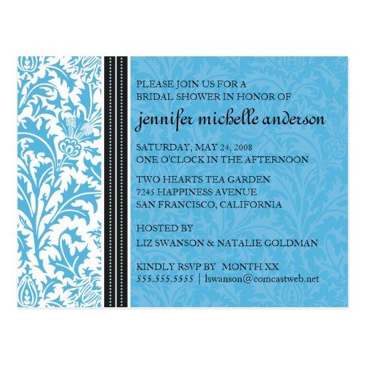 Retro moderne Distel-Brautduschen-Einladung Postkarten