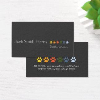 Retro moderne elegante Haustier-Tatzen beruflich Visitenkarte