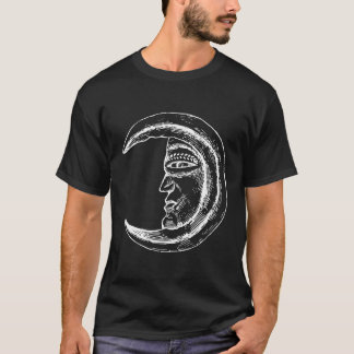 Retro Mond-Illustration T-Shirt