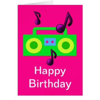 retro Musik boombox alles Gute zum Geburtstag des Karte