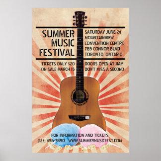 Retro Musik-Festival-Plakat Poster