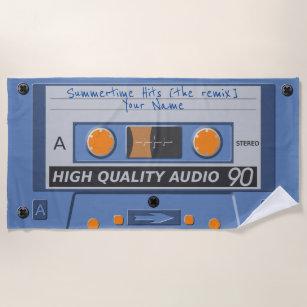 retro Musikkassette des 80ers (mixtape) Strandtuch