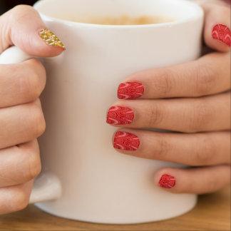 retro Muster der 70er 3E Minx Nagelkunst