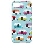 Retro Muster Menschenwohnwagen Hippie Etui Fürs iPhone 5