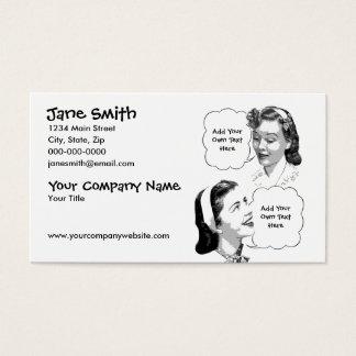 Retro Mutter u. Tochter Visitenkarte