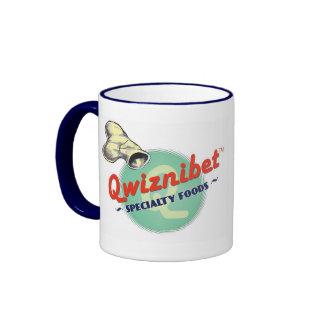 Retro Nahrungsmittel der Kaffee-Tassen-| Qwiznibet Ringer Tasse