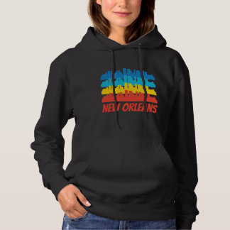 Retro New- Orleansla Skyline-Pop-Kunst Hoodie