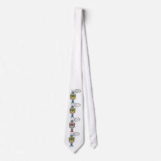 Retro niedlicher lustiger krawatte