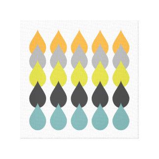 Retro orange Gelb-Blau Leinwanddruck