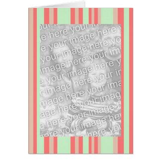retro orange Grün stripes Fotorahmen Karte