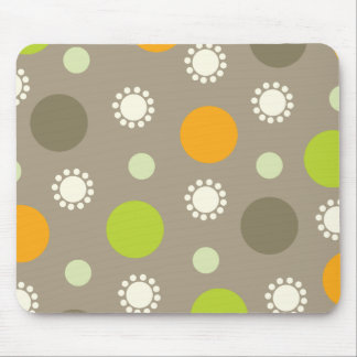 Retro orange grüne Punkt-Muster-Gewohnheit Mousepa Mousepad