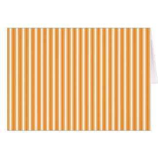 Retro Orange Striped Karte