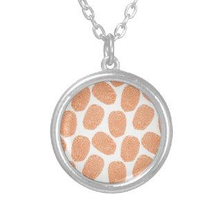 Retro orange Thumbprint Muster Amulett
