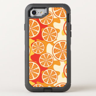Retro orange Zitrusfrucht-Muster OtterBox Defender iPhone 8/7 Hülle