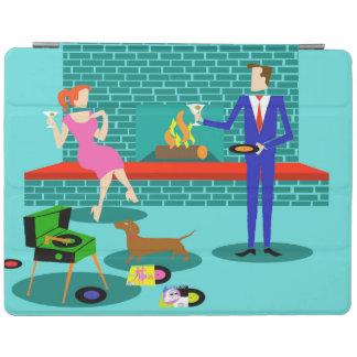 Retro Paare mit HundiPad intelligenter Abdeckung iPad Hülle