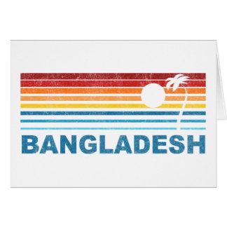 Retro Palme Bangladesch Karte