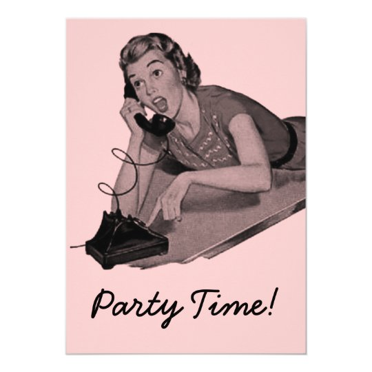 Retro Party 12,7 X 17,8 Cm Einladungskarte