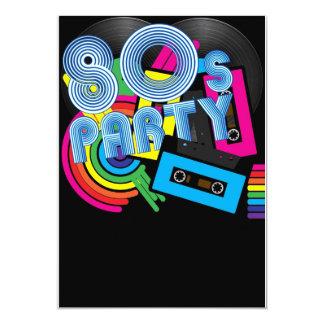 Retro Party 80 12,7 X 17,8 Cm Einladungskarte