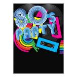 Retro Party 80 Personalisierte Ankündigung