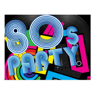 Retro Party 80 Postkarte