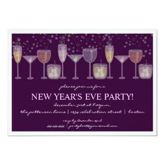 Retro Party des Cocktail-Feier-Sylvesterabends 12,7 X 17,8 Cm Einladungskarte
