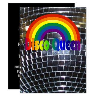 Retro Party-Disco-Ball 70er des Disco-Tanz-Party   Karte