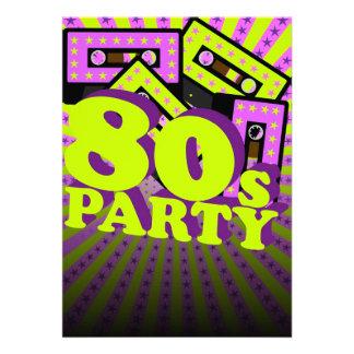Retro Party Einladungskarte