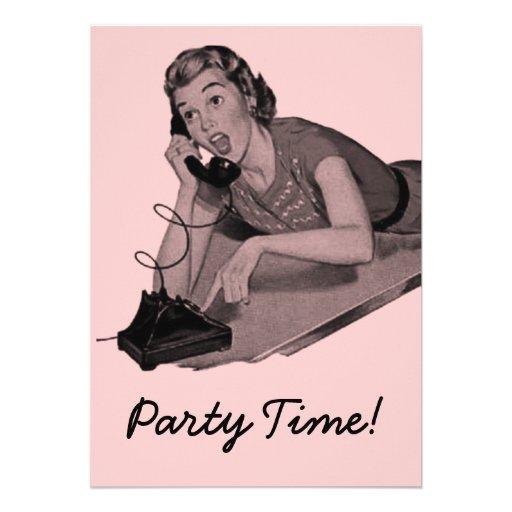 Retro Party Ankündigungen