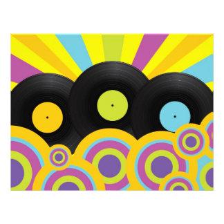 Retro Party-Hintergrund 21,6 X 27,9 Cm Flyer