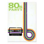Retro Party-Hintergrund Personalisierte Ankündigungskarte