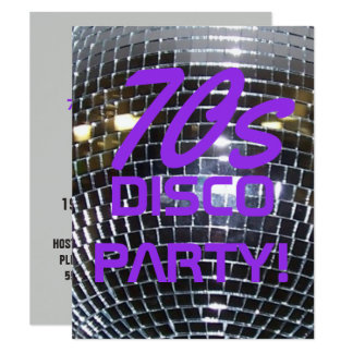 Retro Party Siebzigerjahre des Disco-Tanz-Party   Karte