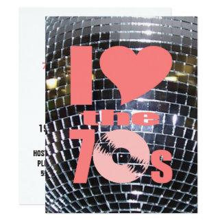 Retro Party-Vinylaufzeichnung Siebzigerjahre des 10,8 X 14 Cm Einladungskarte