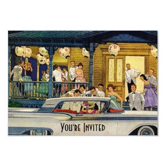 Retro Party-Zeit V2 8,9 X 12,7 Cm Einladungskarte